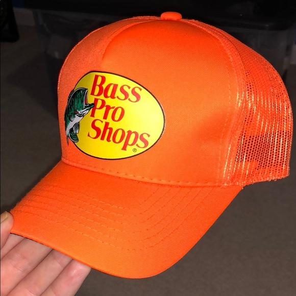 c8f5f364ecf6a Bass Pro Shops Other - Neon orange Bass Pro Shops trucker hat
